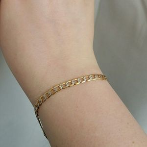 Jewelry - 10k yellow gold faceted link bracelet / anklet